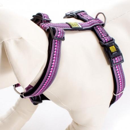Max & Molly - 紫色民族紋 H 型胸帶 - 中