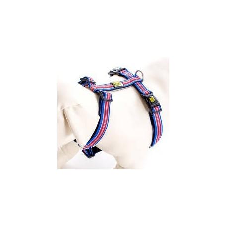 Max & Molly - 藍色條紋 H 型胸帶 - 大
