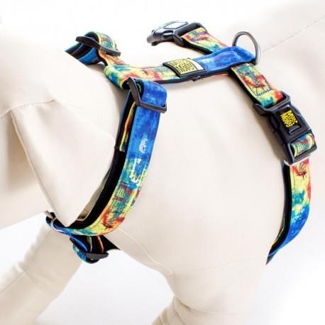 Max & Molly - 藍色熱情紋 H 型胸帶 - 大
