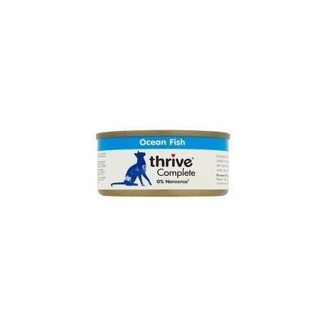 Thrive 脆樂芙 - 整全三鮮貓罐頭 (鯖魚+銀魚+海蝦) - 75 克