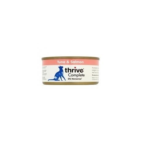 Thrive 脆樂芙 - 整全貓罐頭 (吞拿魚+三文魚) - 75 克