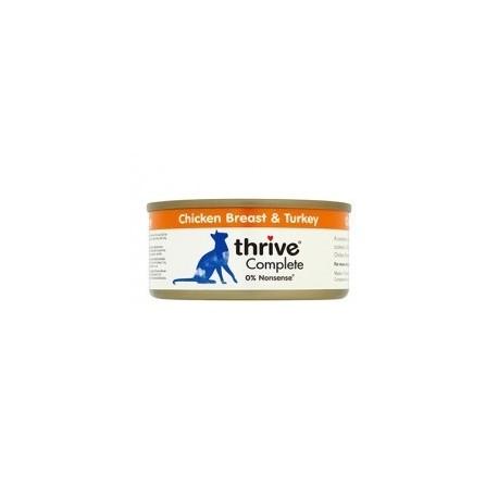 Thrive 脆樂芙 - 整全貓罐頭 (雞胸+火雞) - 75 克
