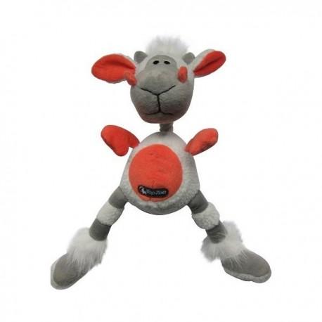 TopZoo - 好朋友系列毛絨玩具 (小羊) - 灰色和珊瑚色