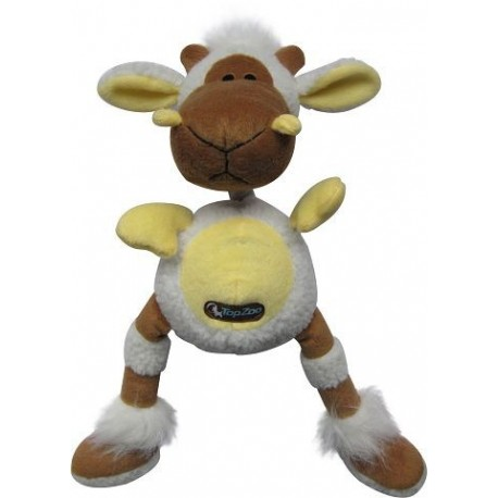TopZoo - 好朋友系列毛絨玩具 (小羊) - 啡色和黃色