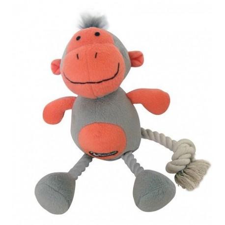 TopZoo - 好朋友系列毛絨玩具 (小猴子) - 灰色和珊瑚色