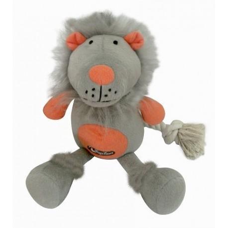 TopZoo - 好朋友系列毛絨玩具 (小獅子) - 灰色和珊瑚色