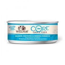 Wellness 寵物健康 - CORE 無穀物海洋魚貓罐頭 - 5.5 安士