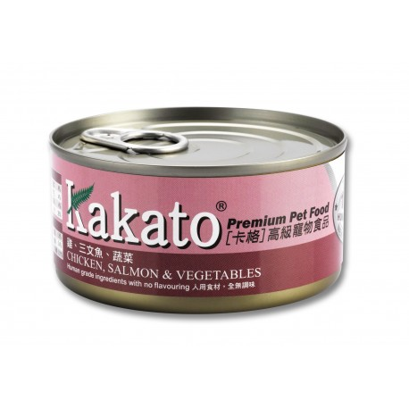 Kakato 卡格 - 雞、三文魚、蔬菜 - 170 克