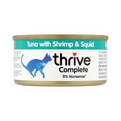 Thrive 脆樂芙 - 整全三鮮貓罐頭 (吞拿魚+蝦+墨魚) - 75 克
