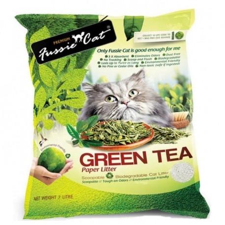 Fussie Cat - 綠茶紙貓砂 - 7 公升