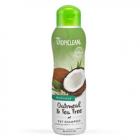 TropiClean - 燕麥及茶樹油精華洗毛液 - 355 毫升