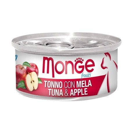 Monge 清新水果系列 - 吞拿魚配蘋果 - 80 克