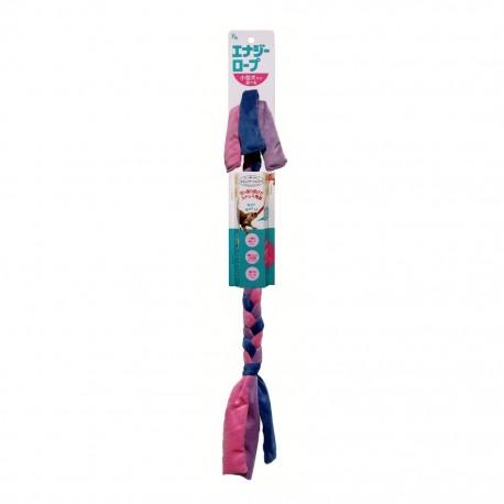 Kyoritsu - 小狗柔軟毛絨能量繩玩具 - 紫色