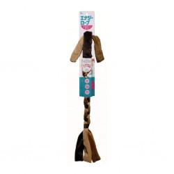 Kyoritsu - 小狗柔軟毛絨能量繩玩具 - 啡色