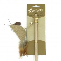 Billipets - 天然木製貓棒 - 老鼠