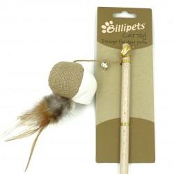 Billipets - 天然木製貓棒 - 貓波