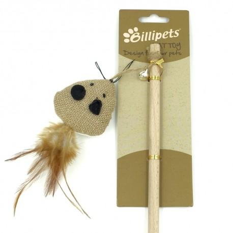 Billipets - 天然木製貓棒 - 三角老鼠