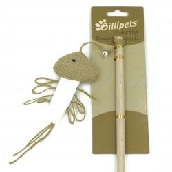 Billipets - 天然木製貓棒 - 墨魚