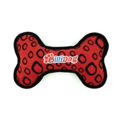 Billipets - BilliDog 耐用發聲骨頭型狗玩具 - 紅色