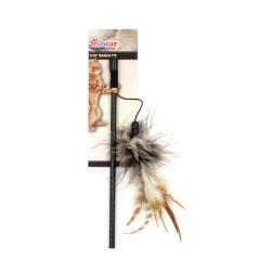 Billipets - 火雞毛貓棒玩具 - 40 厘米