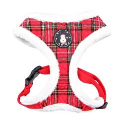 Puppia - Blitzen H 型胸帶 A 款 (格紋紅) - 加大