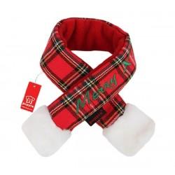 Puppia - 聖誕頸巾 (格紋紅) - 大