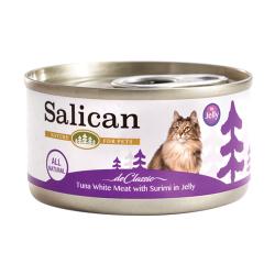 Salican - 白肉吞拿魚、蟹肉啫喱貓罐頭 - 85 克
