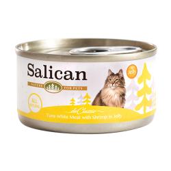 Salican - 白肉吞拿魚、鮮蝦啫喱貓罐頭 - 85 克