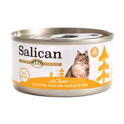 Salican - 白肉吞拿魚、鯷魚啫喱貓罐頭 - 85 克