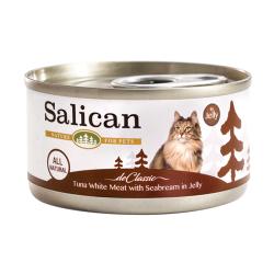 Salican - 白肉吞拿魚、鯛魚啫喱貓罐頭 - 85 克