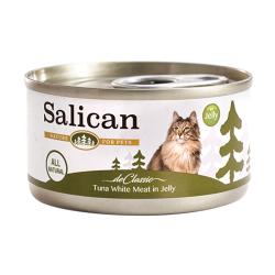 Salican - 純白肉吞拿魚啫喱貓罐頭 - 85 克