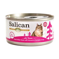 Salican - 白肉吞拿魚、青口、南瓜湯貓罐頭 - 85 克