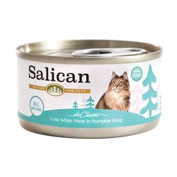 Salican - 白肉吞拿魚、南瓜湯貓罐頭 - 85 克