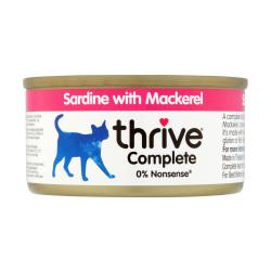 Thrive 脆樂芙 - 整全貓罐頭 (沙甸魚+鯖魚) - 75 克