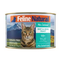 K9 Natural - F9 Feline Natural 牛肉及藍尖尾鱈魚主食貓罐頭 - 170 克