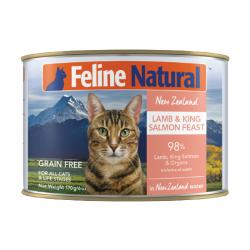 K9 Natural - F9 Feline Natural 羊肉及三文魚主食貓罐頭 - 170 克