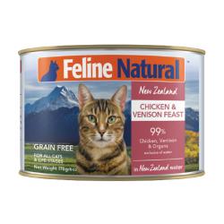 K9 Natural - F9 Feline Natural 雞肉及鹿肉主食貓罐頭 - 170 克