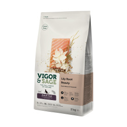 VIGOR & SAGE - 百合美毛三文魚成貓糧 - 2 公斤