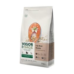 VIGOR & SAGE - 百合美毛小型犬三文魚成犬糧 - 6 公斤