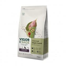 VIGOR & SAGE - 荷葉控制體重火雞肉成貓糧 - 2 公斤