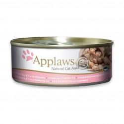 Applaws 愛普士 - 全天然吞拿魚柳、蝦貓罐頭 - 156 克