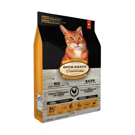 Oven-Baked 奧雲寶 - 高齡貓減肥配方 - 10 磅