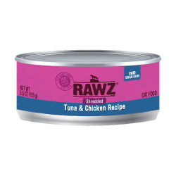 RAWZ - 吞拿魚、雞肉肉絲全貓罐頭 - 155 克
