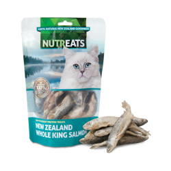 NUTREATS - 紐西蘭原條帝王三文魚低溫凍乾貓小食 - 50 克