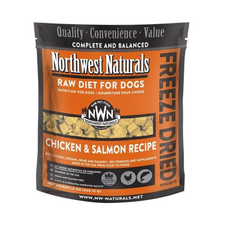 Northwest Naturals NWN - 凍乾脫水雞肉及三文魚全犬狗糧 - 12 安士