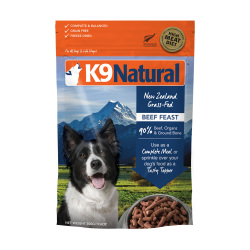 K9 Natural - 凍乾脫水牛肉全犬鮮肉狗糧 - 500 克