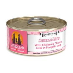 Weruva - 無骨去皮雞胸肉、雞肝鮮肉狗罐頭 - 5.5 安士