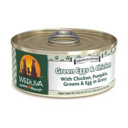 Weruva - 無骨去皮雞胸肉、雞蛋、豌豆鮮肉狗罐頭 - 5.5 安士