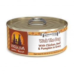 Weruva - 無骨去皮雞胸肉、牛肉、南瓜鮮肉狗罐頭 - 5.5 安士