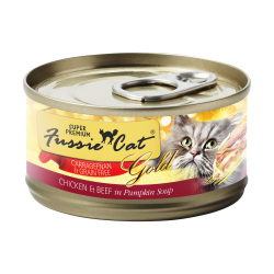 Fussie Cat - 金鑽系列南瓜湯煮雞肉+牛肉純天然貓罐頭 - 80 克